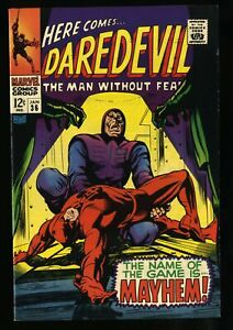 Daredevil #36 VF NM 9.0 White Pages