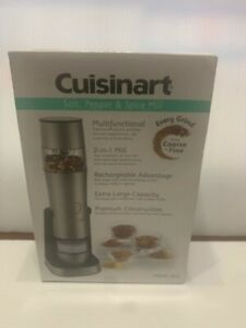 Cuisinart SG 3 Rechargeable Salt Pepper and Spice Mill Open Box Never Used