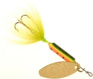 Yakima 210 Fire Tiger 1 6 Oz Original Rooster Tail Fishing Spinnerbait Lure