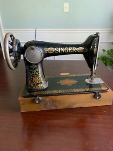 Antique 1910 Singer Sewing Machine Model 66 quot;Red Eyequot; Machine Only $75.00