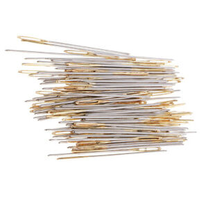 100pcs Sewing Large Eye Needles Embroidery Tapestry Darning Needles $7.15