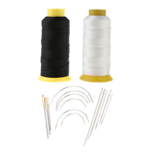2 Pieces Bonded Nylon Sewing Thread and 14 Pieces Sewing Needles for Leather $17.05