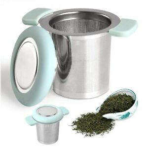 Tea Infuser Stainless Steel Tea Strainer Filter with Silicone Handle Teaware US
