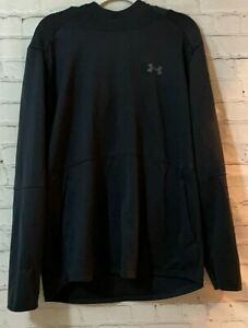 Under Armour XL Mens Black Loose Fit Polyester Solid Long Sleeve Pullover Hoodie $32.98