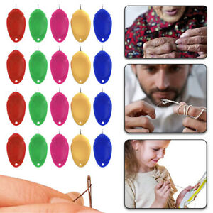 5 20 Needle Threader for Hand Sewing 10 Pcs Plastic Wire Loop Simple DIY Sewing $0.99