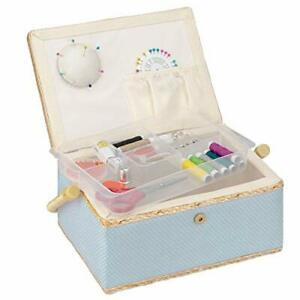 Navaris Sewing Box with Accessories Sew Basket with Organizer Tray Compartment $29.98