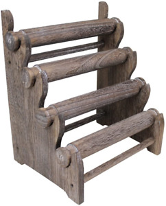 Ikee Design Antique Wooden 4 Tier Jewelry Bracelet Display Stand Bangle Scrunchi $49.28