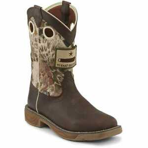 NIB JUSTIN WORK WK4320 GRIZZLY BROWN WATERPROOF 11quot; SAND STORM UPPER BOOT $160