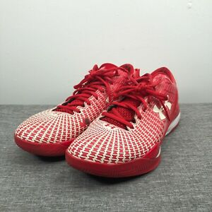 Under Armour Shoes Mens 9.5 Red White Clutchfit Drive Basketball Sneakers $39.95