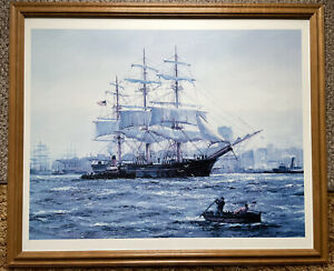 Large Print of oil painting seascape Sailing ship Framed $95.99