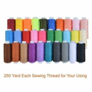30 Spools Sewing Thread Real Strong Spools Set for Hand Machine Line 250 Yards $9.39