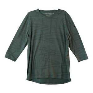 Under Armour XL Mens Gray Crew Neck 3 4 Sleeve Fitted Pullover Casual T Shirt $24.98