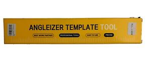 Metal Angle izer Template Tool Adjustable Ruler With Storage Pouch Case $12.00