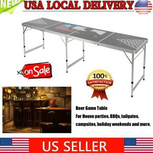 New Folding Beer Game Table Waterproof Portable Tables For Camping BBQ Party $90.39