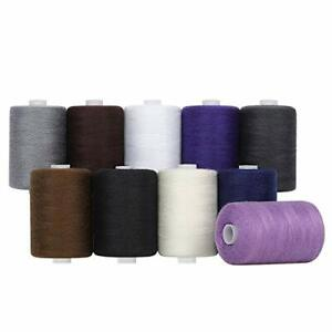 MOOACE 10 Colors Sewing Threads for Sewing Machine 1000 Yards Spools Thread Mix $17.68