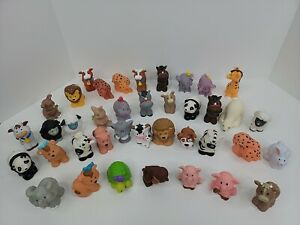 Little People LOT 39 Mixed Fisher Price Farm Sea Exotic Zoo animals $44.99