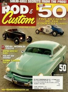 ROD amp; CUSTOM 2003 DEC THE 50 BEST RODS amp; CUSTOMS EVER SOLID FRONT AXLE*