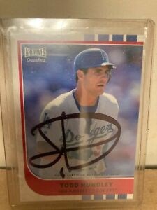 Todd Hundley 2021 Topps Archives Snapshots On Card Auto #43 Dodgers $7.99