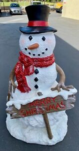 SNOWMAN LARGE OUTDOOR DECORATION HOLIDAY $1000.00