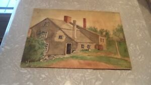 Antique Signed Watercolor Marblehead Mass. $32.99