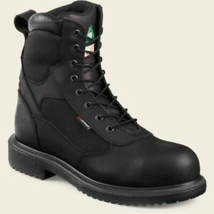 Red Wing 8quot; Steel Toe Waterproof Work Black Boots Mens Size 13 Made in USA 4273