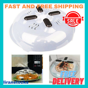 Microwave Plate Cover Splatter Lid With Steam Vents Magnetic Splatter Guard
