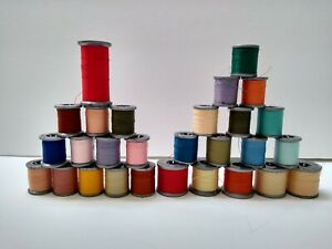 Vintage Lot Molnlycke Sewing Thread 28 Spools of Polyester Thread $25.00