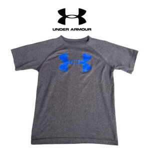 Boys Under Armour Logo Tee Shirt Loose Fit Heat Gear Size Youth Small $15.00