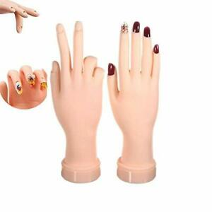 Practice Hand for Acrylic Nails 2Pack Nail Art Training Hand Flexible $18.09