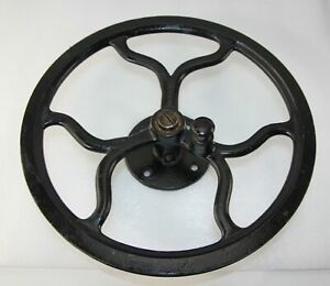 OLD Antique SINGER Treadle Sewing Machine Cast Iron Fly Wheel Assembly 11 1 8quot; $35.99