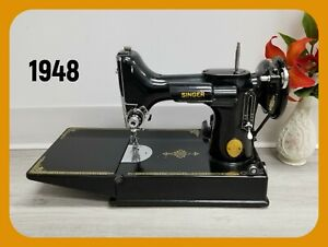 SEWING MACHINE SINGER FEATHERWEIGHT 221 Series AH From 1948 Beautiful $1490.00