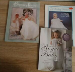 Lot of 3 Sewing books sewing for a royal baby Elegant Sewing Vintage gown patt $6.00