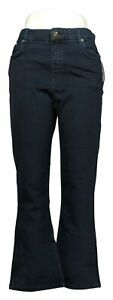 Denim Co. Womens Petite Jeans 10P Easy Stretch Pull On Bootcut Blue A383383 $11.99