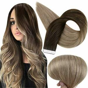 Tape In Hair Extensions Real Hair Extensions Balayage Color 2 14 Inch #2#6#18 $50.64