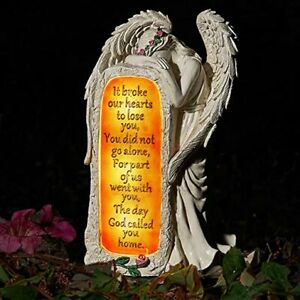 Angel Garden Statues Outdoor Decor Solar Angel Figurines Lights for Loved One $47.99