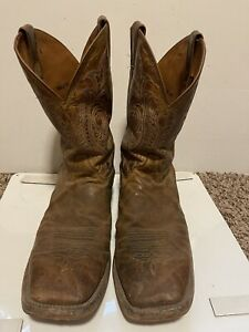 Justin Boots Caddo brown leather made in usa sz EE 14