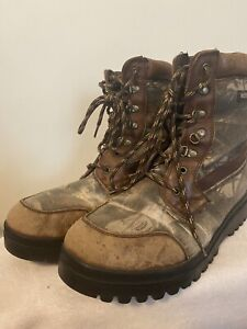 Northwest Territory Mens Hunting Boots Brown Lace Up Camo Gently Used 13 Size M