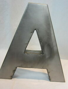 Sheet Metal Large Metal Letter A Indoor Outdoor 3D Décor Man Cave 8 1 2quot; tall $24.99