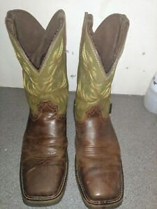justin work boots size 11d