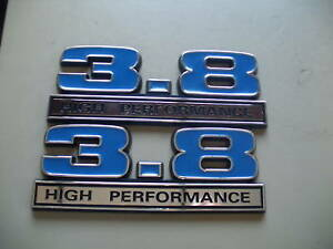 NEW 3.8 HIGH PERFORMANCE EMBLEMS BLUE 5