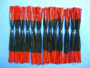 25 Silicone Skirt BlackRed Tips Lure Making bait
