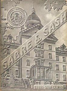 1943 Sabre amp; Sash PMC Pennsylvania Military College 3rd War Class Yearbook mg $27.99