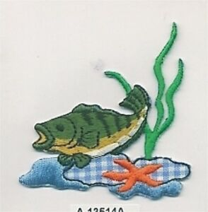 Trophy Trout Starfish Kelp Embroidery Patch