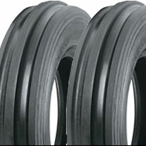 2) 5.50-16 550-16 5.50x16 550x16 F-2 Tri 3 Rib FRONT tractor TIRES DS5123