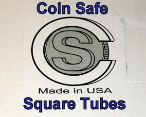 TWENTY 20 You Pick Assorted Sizes SQUARE Tubes COIN SAFE Made in America $13.25