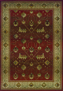 2x8 Runner Sphinx Leaves Red Oriental 112P1 Area Rug - Approx 2' 3