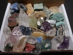 The Original Crafters Collection 1 Lb Mix Natural Gems Crystals Minerals $24.95