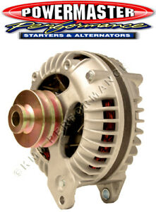 Powermaster 7019 Mopar 90 Amp Round Back Alternator w2V-Pulley Natural