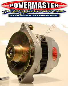 Powermaster 478066 GM CS144 Large Delco Alternator 200 Amp 16V Natural