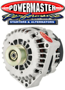 Powermaster 48237 GM AD244 Alternator 225 Amp w 4 Pin VR Natural Finish